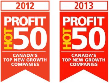 Profit Magazine's Hot 50, 2012 & 2013
